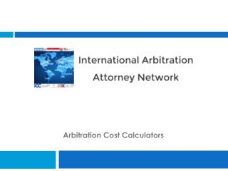 Arbitration Cost Calculators