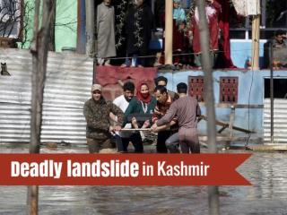 Deadly landslide in Kashmir