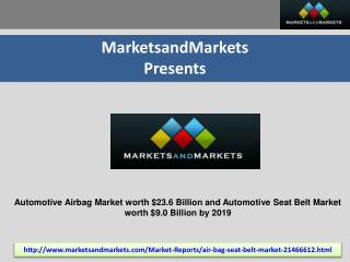 Automotive Airbag Market worth $23.6 Billion