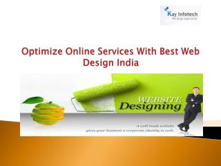 Optimize Online Services With Best Web Design Services India