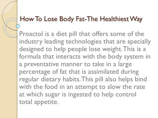 How To Lose Body Fat-The Healthiest Way