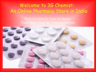 Online Pharmacy Store in India - 3G Chemist