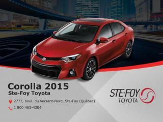 Toyota Corolla 2015 à Québec - Un véhicule écoénergétique