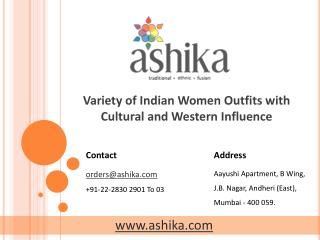 Variety of Indian Women Outfits with Cultural and Western In