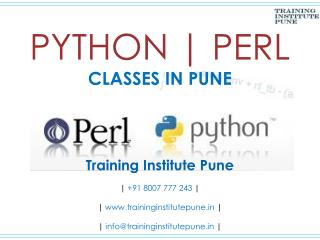 Python | Perl Classes in Pune - Training Institute Pune
