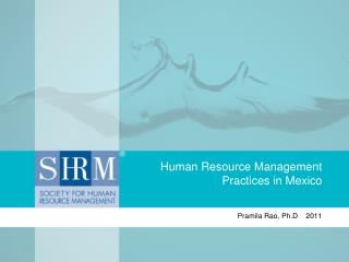 Human Resource Management Practices in Mexico