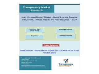 Head Mounted Display Market to grow at a CAGR of 55.3% in t