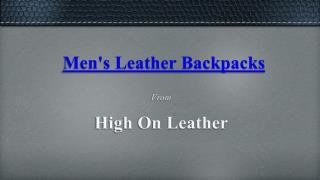 Leather Rucksack Backpacks