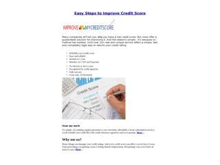 Easy Steps to Improve Credit Score UK