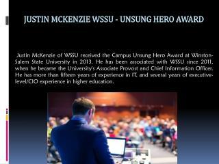Justin Mckenzie WSSU