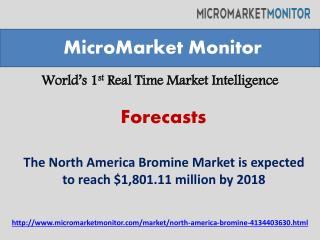The North America Bromine Market worth $1,801.11 million