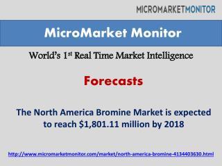 The North America Bromine Market worth $1,801.11 million