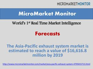 The Asia-Pacific exhaust system market is estimated to reach
