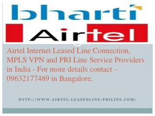 Airtel Leased Line Hyderabad - 09632177489