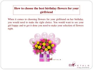 How to choose the best birthday flowers for your girlfriend