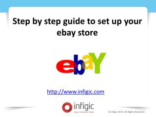 Step by step guide to set up your ebay store