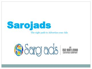 Print, Press, Theatre, Radio Ad & Advertisement Agency, Serv