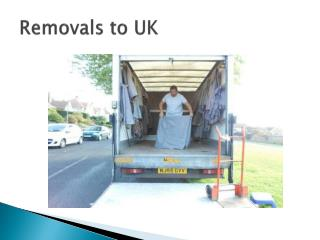 Removals to Europe, Removals to UK, Removals to Spain.