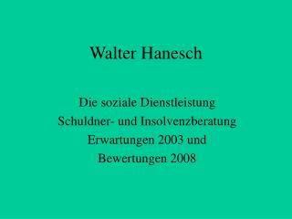 Walter Hanesch