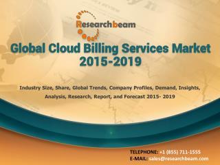 Global Cloud Billing Services Market 2015-2019