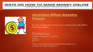 Advertising Affiliate Marketing Program