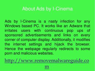 Remove Ads by I-Cinema: steps to eradicate it