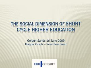 The social dimension of SHORT CYCLE HIGHER EDUCATION