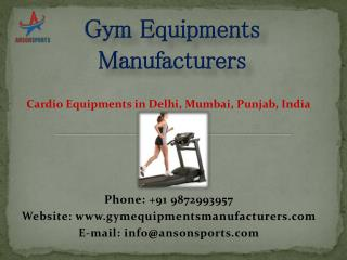 Cardio Equipments in Delhi, Mumbai, Punjab, India