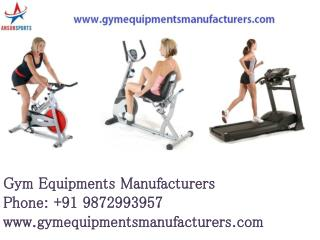 Commercial Gym and Fitness Equipments in Delhi, Mumbai, Punj