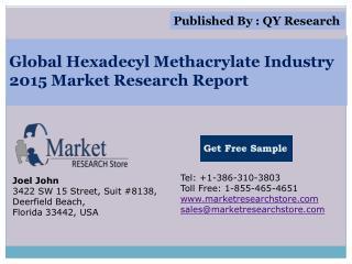 Global Hexadecyl Methacrylate Industry 2015 Market Analysis