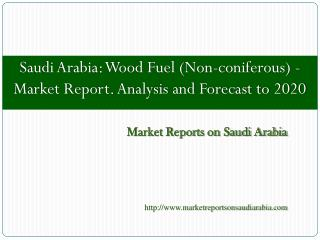 Saudi Arabia: Wood Fuel (Non-coniferous) - Market Report