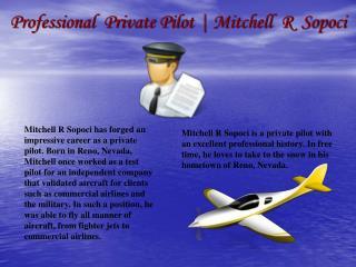 Professional  Private Pilot_ Mitchell  R  Sopoci