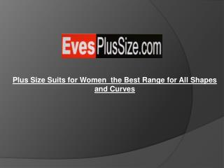 Plus Size Suits for Women : the Best Range for All Shapes an