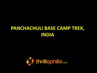 Panchachuli Base Camp Trekking