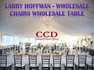 Larry Hoffman - Wholesale Chairs Wholesale Table