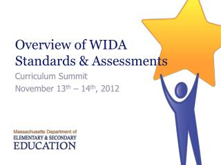Overview of WIDA  Standards  Assessments