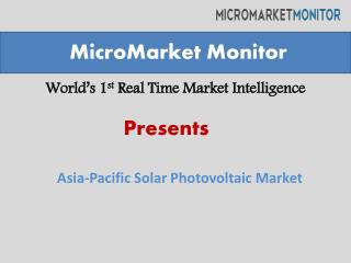 Asia-Pacific Solar Photovoltaic (PV) Market