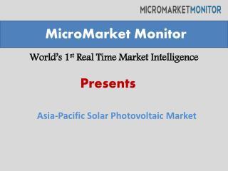 Asia-Pacific Solar Photovoltaic (PV) Market