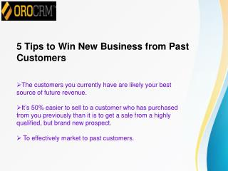 5 Tips to Win New Business from Past Customers
