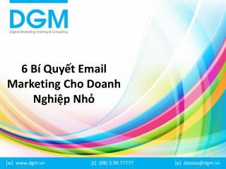 6 bi quyet email marketing cho doanh nghiep nho