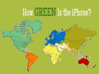 Hoe green is the iPhone
