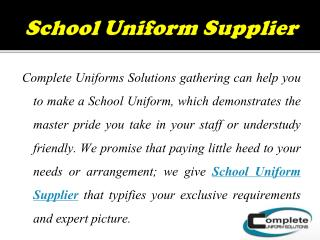 Affordable Wholesale Uniforms Supplier in Australia