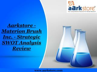 Aarkstore - Materion Brush Inc. - Strategic SWOT Analysis Re