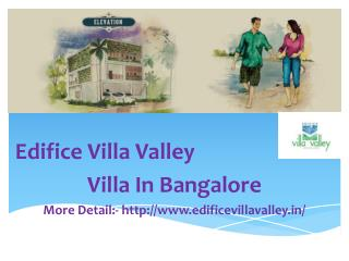 Edifice Villa Valley, Pre Launch, Price, Edifice Villa