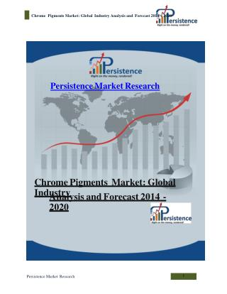 Chrome Pigments Market: Global Industry Analysis and Forecas