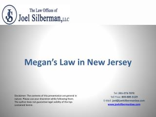Megan's Law in New Jersey