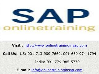 SAP BASIS Training Course Online and Placement