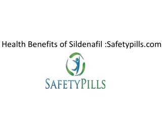 Health Benefits of Sildenafil