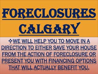 Foreclosures Calgary