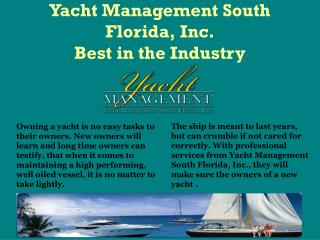 Yacht Management South Florida, Inc.